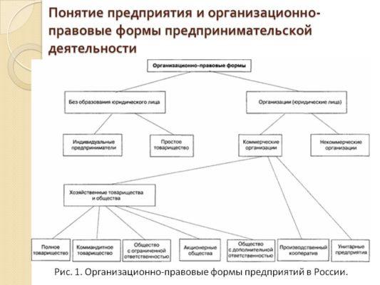 Понятие предприятия и организационно-правовые формы