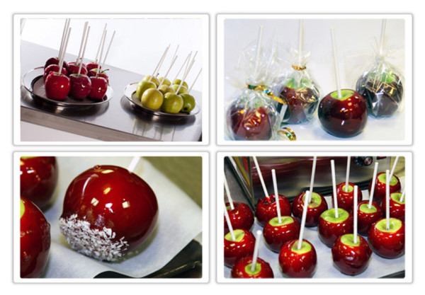 Торговля карамельными яблоками